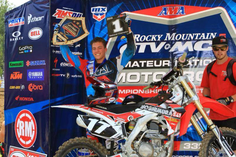 Braden O'Neal survived a fourth in the final moto to win the championship