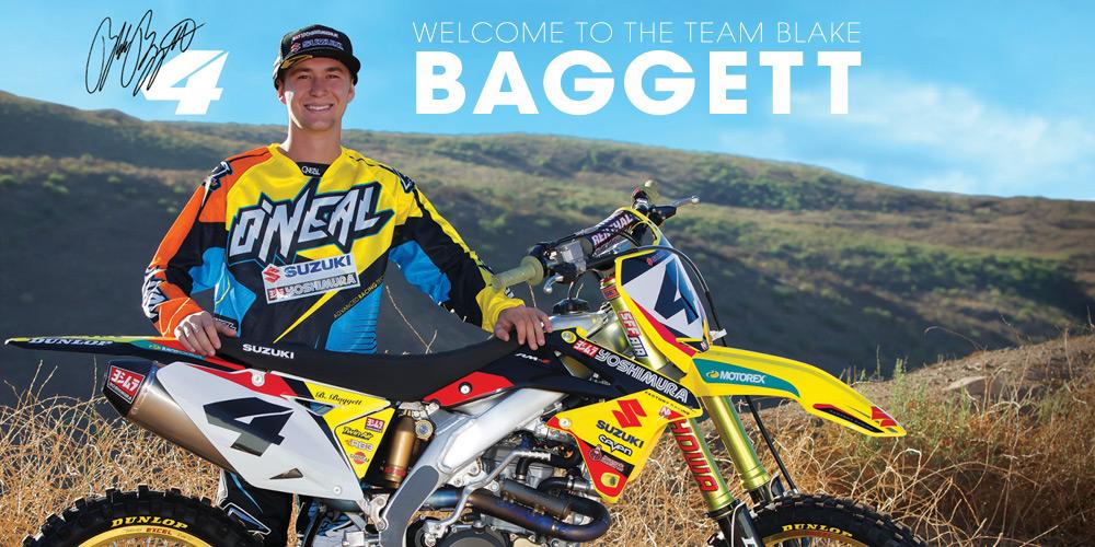 Blake Baggett riding for O'Neal