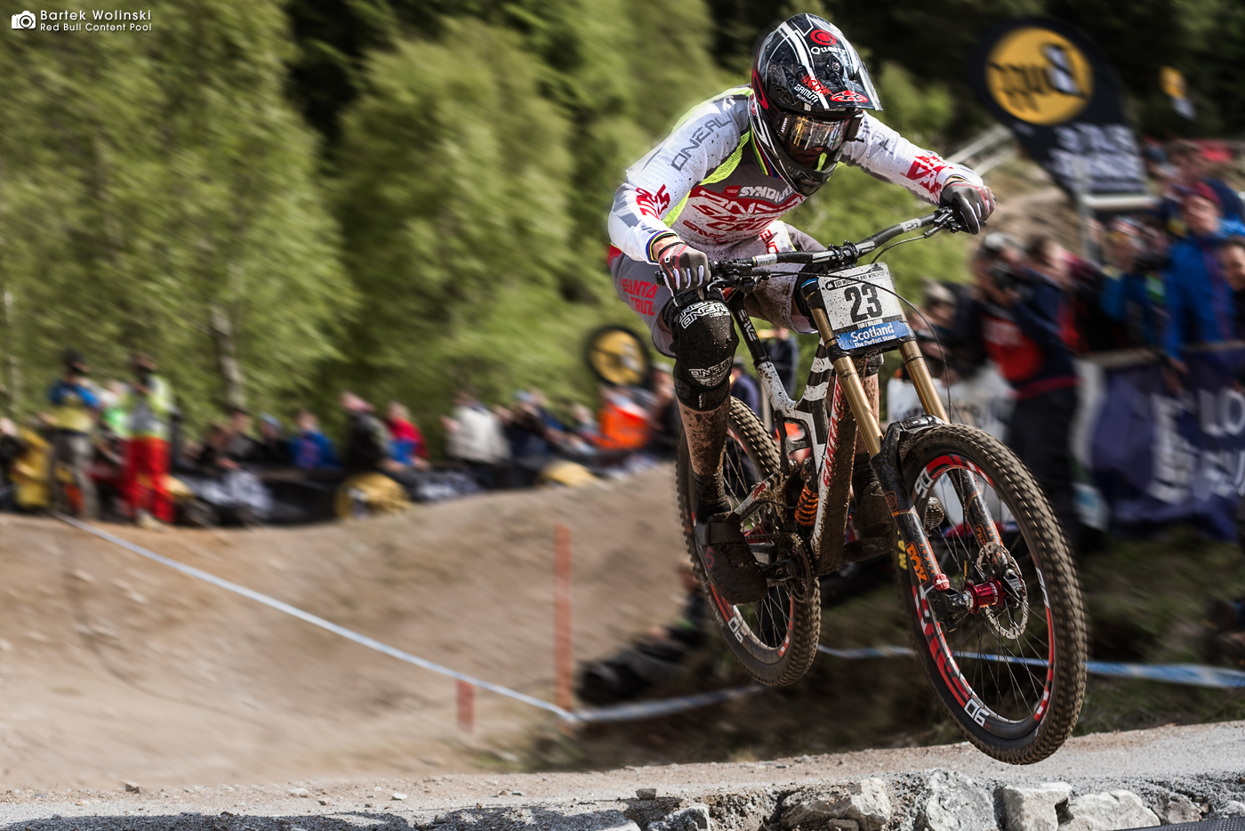 O'NEAL's Greg Minnaar celebrated his 17th World Cup victory in Fort William, which puts him equal with Steve Peat for most wins ever!
