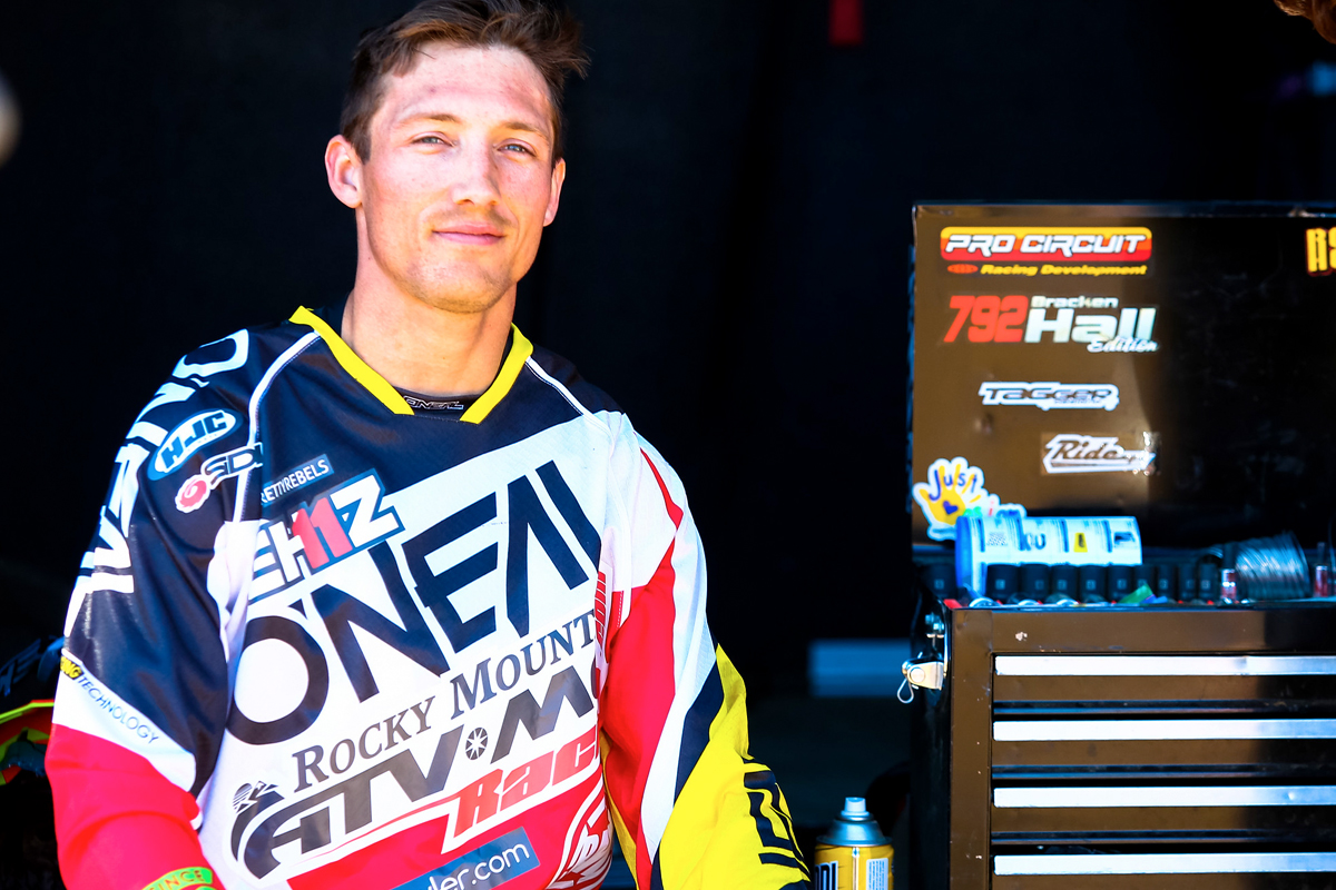 O'Neal team rider Kyle Chisholm