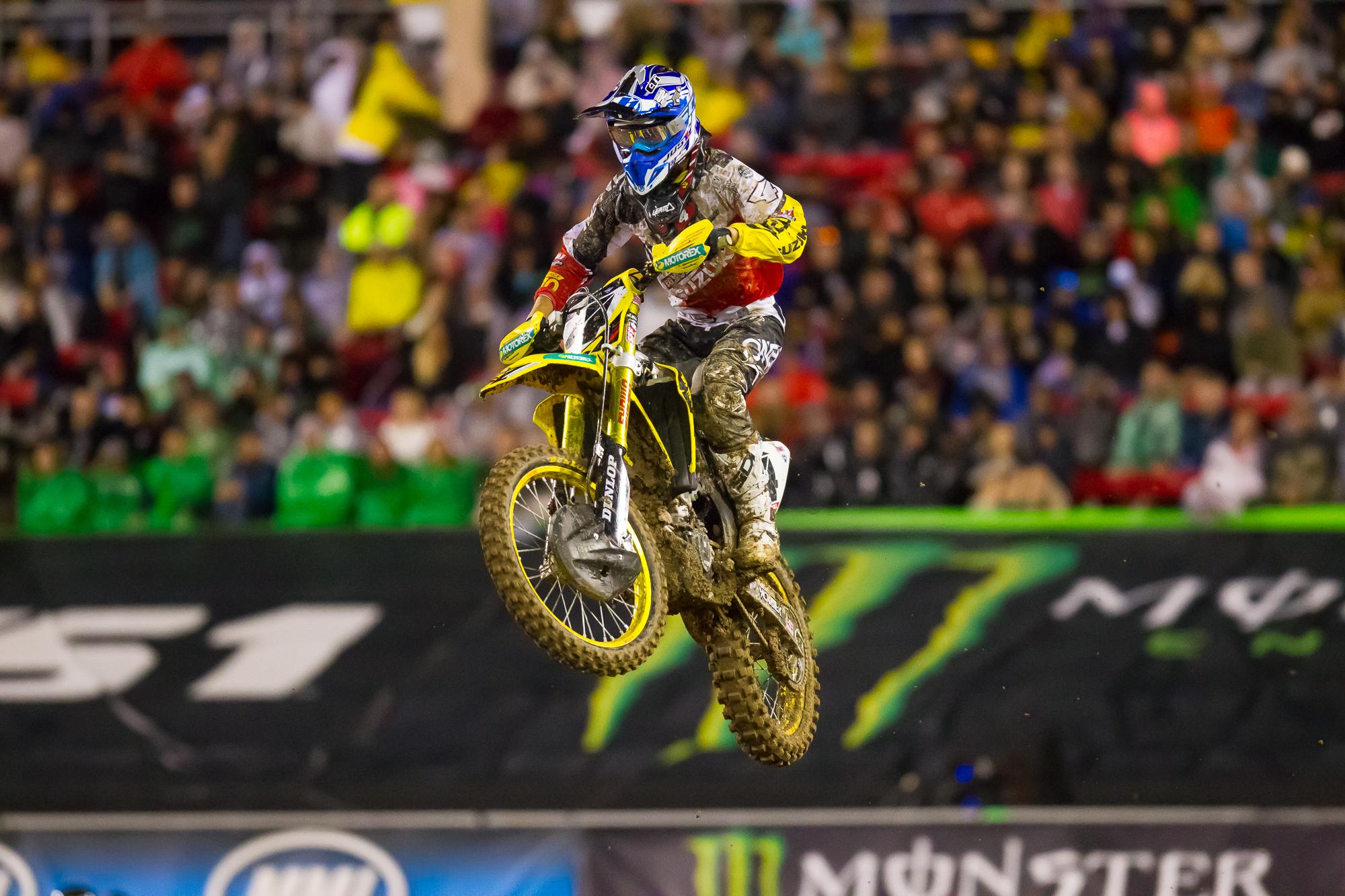 O'Neal rider Blake Baggett at SX Las Vegas