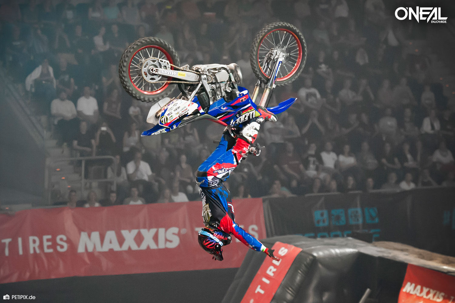 O'Neal team rider Marc Pinyol at Night of the Jumps Mannheim 2016