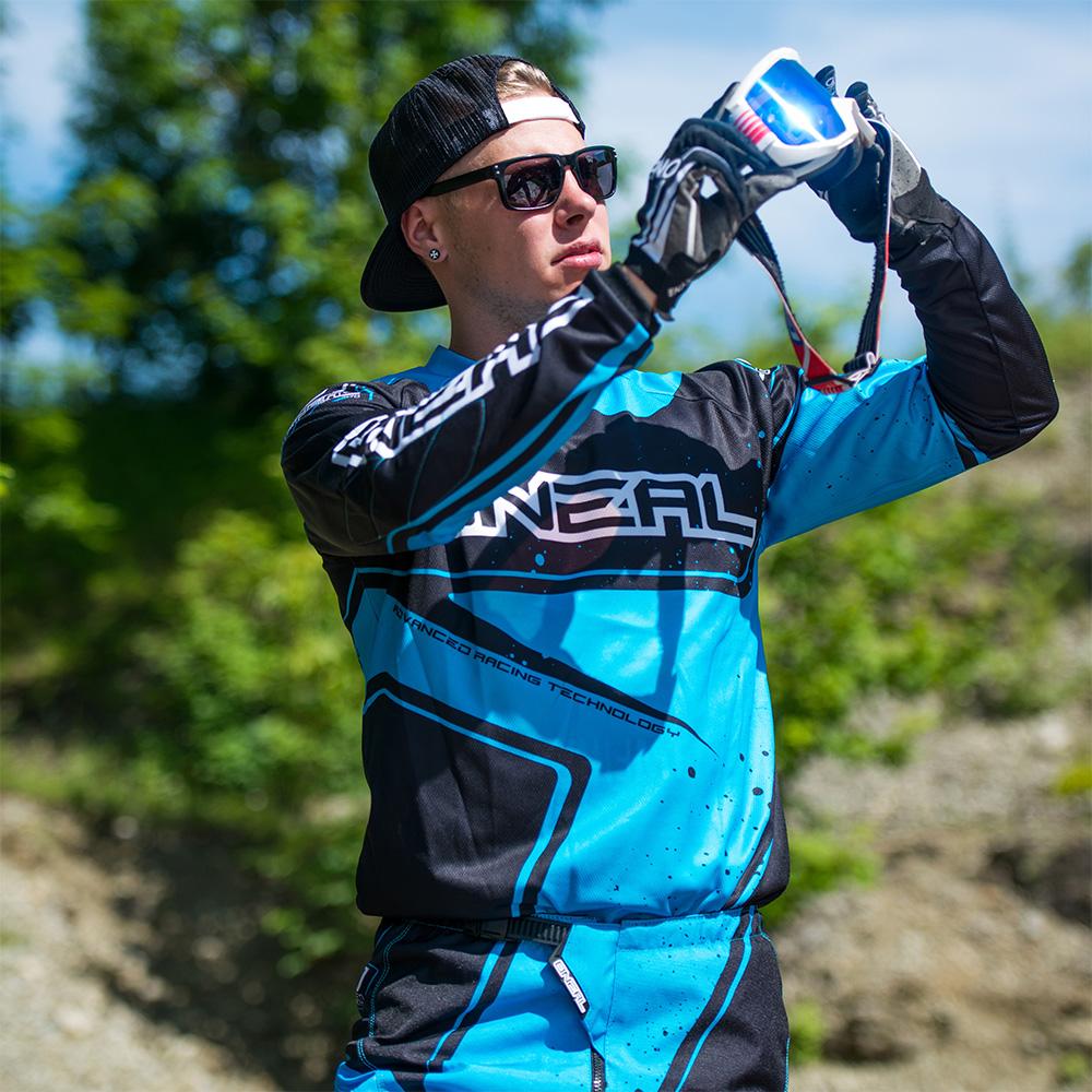 O'Neal team rider Christian Kleiner wearing the O'Neal Element Racewear Kit
